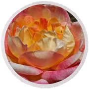 Hybrid Tea Rose Round Beach Towel