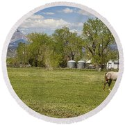 Hygiene Colorado Boulder County Scenic View Round Beach Towel