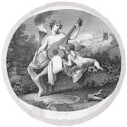 Hymen And Cupid Round Beach Towel