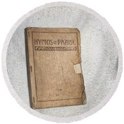 Hymnal Round Beach Towel