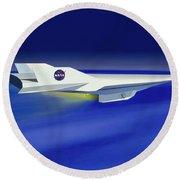 Hyper-x Hypersonic Aircraft Round Beach Towel