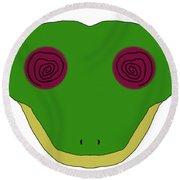 Hypno Frog Round Beach Towel