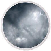 I Am No Storm Chaser Cloud Round Beach Towel