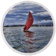 I Am Sailing V2 Round Beach Towel