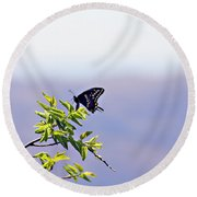 I Fly High Round Beach Towel