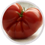 I Love Tomatoes Round Beach Towel