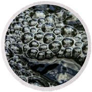 I See Bubbles Round Beach Towel