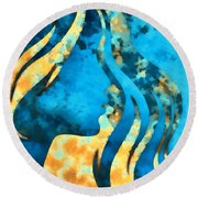 I Should Have Said Goodbye 2 Round Beach Towel by Angelina Vick