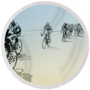 I Want To Ride My Bicycle Round Beach Towel