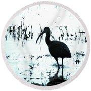 Ibis By Pintail Nature Drive Cameron Prairie Nwr La Round Beach Towel