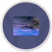 Ice Blue Stone Round Beach Towel