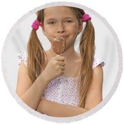 Ice Cream Round Beach Towel