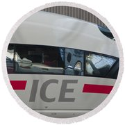 Ice Germany Round Beach Towel