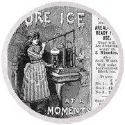 Ice Machine, 1891 Round Beach Towel