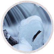 Ice Tombstone Frozen In Time Round Beach Towel