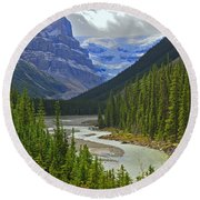 Icefields Parkway Round Beach Towel