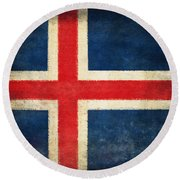 Iceland Flag Round Beach Towel