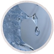 Icicle Detail Round Beach Towel
