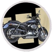 Iconic Harley Davidson Round Beach Towel