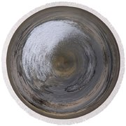 Icy River Round Beach Towel