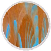 Idol Of Pomos Abstract Round Beach Towel