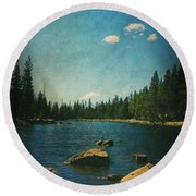 If It Could Be Just You And Me Round Beach Towel