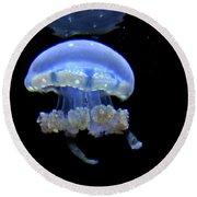 Illuminated Jellyfish  Round Beach Towel