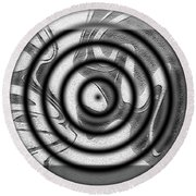 Illusion Round Beach Towel