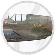 Illustration Of A Curtiss P40-c Warhawk Round Beach Towel