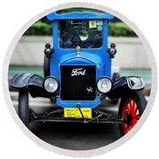 I'm Cute - 1922 Model T Ford Round Beach Towel