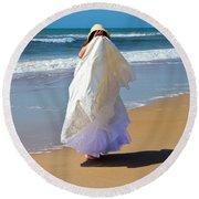 I'm Done Round Beach Towel