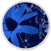 I'm So Blue Round Beach Towel