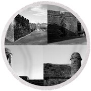 Images Of The Old Castillo Round Beach Towel