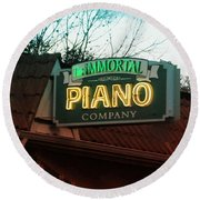 Immortal Piano Co Round Beach Towel