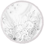 In A World Of Wonder Round Beach Towel