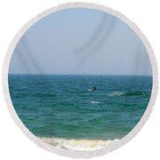 In Between Round Beach Towel by Neal Eslinger