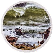 In-coming Tide Round Beach Towel