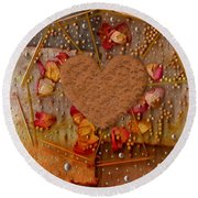 In Cookie And Bread Style Round Beach Towel