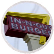 In-n-out IIi Round Beach Towel