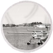 In Plane Sight Round Beach Towel