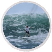 In The Center Of The Swell Round Beach Towel