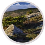 In The Clouds At Cadillac Round Beach Towel