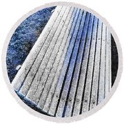 In The Cold Light Of Dawn  Round Beach Towel