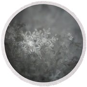 In The Garden Of The Snowflakes Round Beach Towel