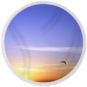 In The Glow Of The Sun Round Beach Towel