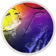 In The Heat Of The Moment Round Beach Towel