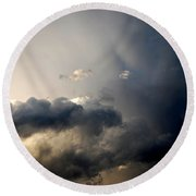 In The Midst Of The Clouds Round Beach Towel