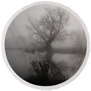 In The Mist Round Beach Towel