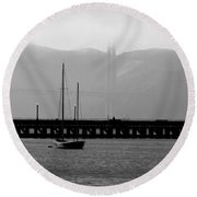In The Shadows Round Beach Towel