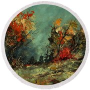 In The Wood 452101 Round Beach Towel